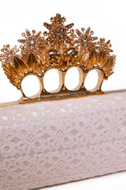 Knuckle Crown Ring Lace Clutch