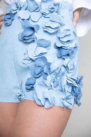 Floral applique shorts