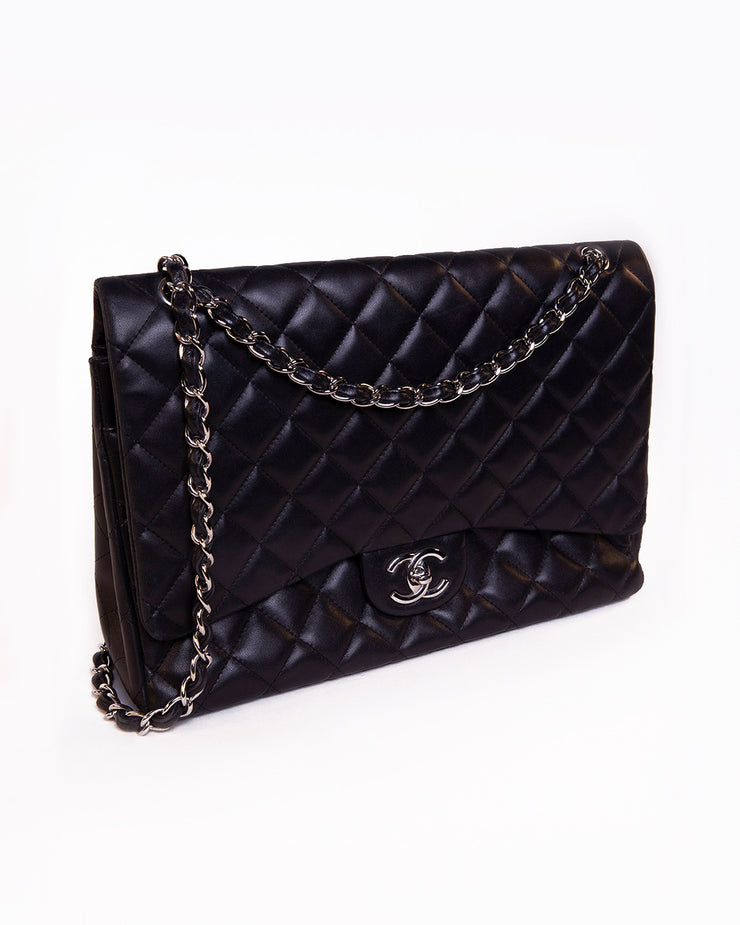 Lambskin Maxi flap shoulder bag