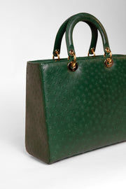 Ostritch leather handbag