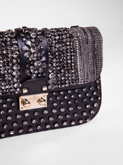 Metro Connect Embellished Leather Shoulder Bag