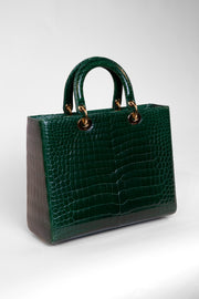 Crocodile leather handbag
