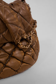 Quilted lambskin shoulder bag
