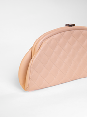 Quilted caviar leather Clutch