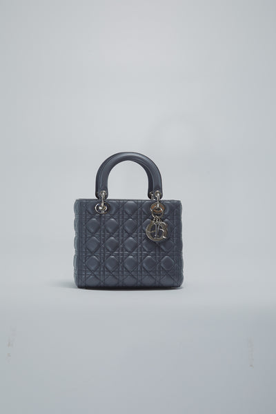 Lady Dior Bag In Grey