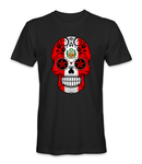 Peru country flag on a skull t-shirt