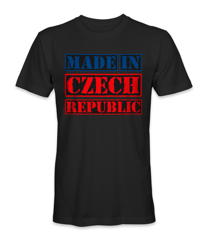 Made in Czech Republic country t-shirt