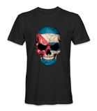 Cuba country flag on a skull t-shirt