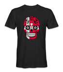 Denmark country flag on a skull t-shirt