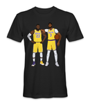 Anthony Davis and Lebron James basketball players t-shirt
