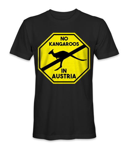 No kangaroos in Austria country t-shirt