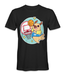 Dog dunking the basketball t-shirt