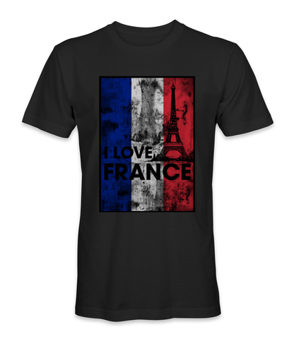 I love France country t-shirt