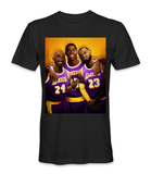 Kobe Bryant, Lebron James, and Magic Johnson basketball legends t-shirt