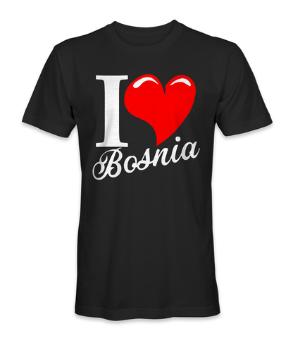 I love Bosnia and Herzegovina country t-shirt