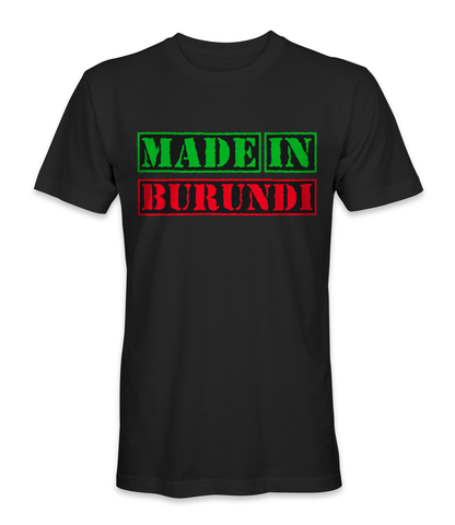 Made in Burundi country t-shirt