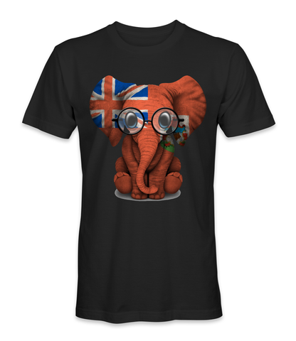 Bermuda country flag on an elephant t-shirt