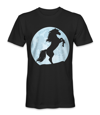Horse on the moon t-shirt