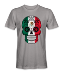 Mexico country flag on a skull t-shirt