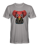 Angola country flag on an elephant t-shirt
