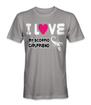 I love my scorpio girlfriend horoscope t-shirt