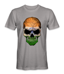 India country flag on a skull t-shirt