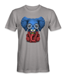 Haiti country flag on an elephant t-shirt
