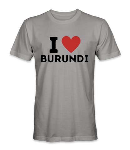 I love Burundi country t-shirt