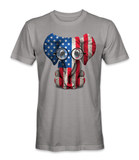 United States country flag on an elephant t-shirt