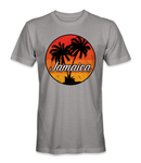 Jamaica country with palm trees t-shirt