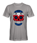Costa Rica country flag on a skull t-shirt