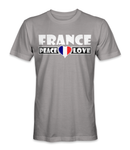 France country is about peace and love t-shirt