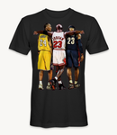Kobe Bryant, Lebron James, and Michael Jordan basketball legends t-shirt
