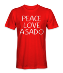 Peace, love, and asado Argentina country t-shirt