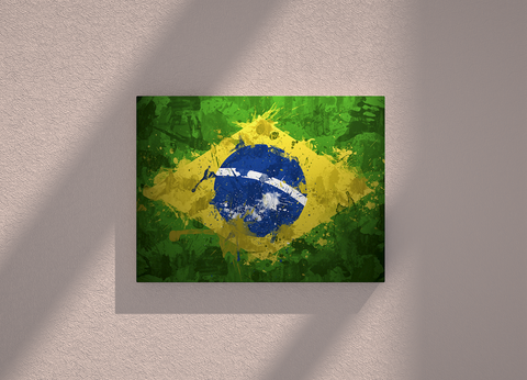 Brazil country canvas