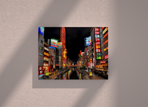 Japan country canvas