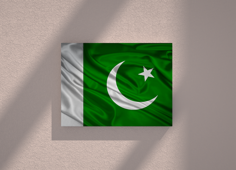 Pakistan country canvas