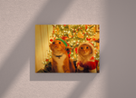 Cat Christmas edition canvas