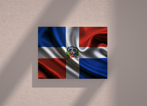 Dominican Republic country canvas