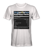Argentina nutrition facts t-shirt