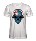 New Zealand country flag on a skull t-shirt
