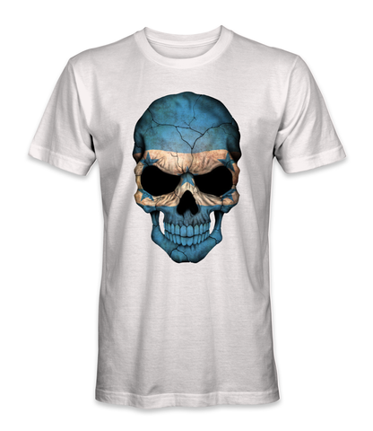 Honduras country flag on a skull t-shirt
