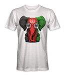 Afghanistan flag on an elephant t-shirt