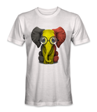 Belgium country flag on an elephant t-shirt