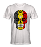 Belgium country flag on a skull t-shirt