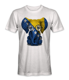 Bosnia and Herzegovina country flag on an elephant t-shirt