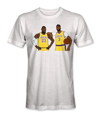 Lebron James and Anthony Davis basketball legends t-shirt