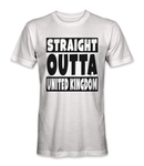 Straight outta United Kingdom country t-shirt