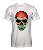 Hungary country flag on a skull t-shirt