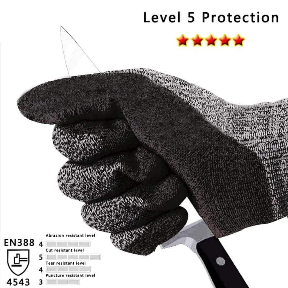 Cut Resistant Gloves Anti-Slip High Performance Level 5 Protection Safety  Kitchen Outdoor Yard Work Auto Repair Flexible Breathable Cool Stretchy  Work ...